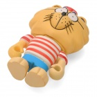 Project Singa S013 Where is Kindness Lion Figure Toy - Light Yellow + White + Red