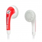 Senmai SM-E2012 Stylish Flat Cable Earphone - Red + White (3.5mm Plug)