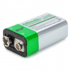 MP Rechargeable 680mAh 9V 6F22 Li-ion Battery for Microphone / Remote Control + More - Silver