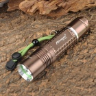 Romisen RC-889 Cree XM-L T6 640lm 5-Mode White Flashlight - Brown (1 x 18650 / 1 x 26650)