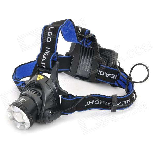 A6 680lm 3-Mode White Zooming Headlamp w/ Cree XM-L T6 - Black (1 x 18650 / 2 x 18650) 600lm 3 mode white bicycle headlamp w cree xm l t6 black silver 4 x 18650