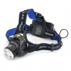 A6 Cree XM-L T6 680lm 3-Mode White Zooming Headlamp - Black (1 x 18650 / 2 x 18650)