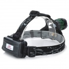 LZZ-003 600lm 3-Mode White Zoom Headlamp - Black + Deep Green (1 x 18650 / 2 x 18650)