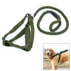 Adjustable Collar Strap Big Dog Pet Leash - Army Green (120cm-Length)