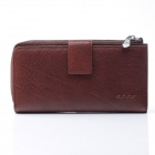 Beidi Erke B047-1-900 echtes Kalbsleder Herren Long Wallet - Red Brown