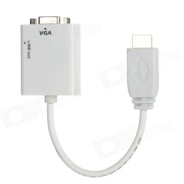 HD CY-117-WH HDMI macho a VGA Cable w / salida de audio de Apple TV - Blanco