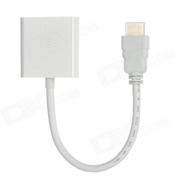CY HD-057-WH 1080P HDMI Male / VGA Female Converter Adapter - White