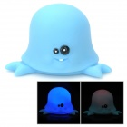 Funny Floating Octopus Bath Bathing Toy w/ Light Effect - Blue (2 x LR626)