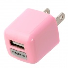BASEUS DCALL-US0R Mini USB Power Adapter - Pink (AC 100~240V / 2-Flat-Pin Plug)