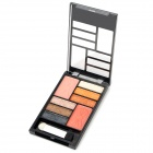 A Style Cosmetic Makeup Powder 6-Eyeshadow + 1-Eyebrush + 2-Blusher Palette Set