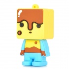 Creative Cartoon Boy Style USB 2.0 Flash Drive - Yellow + Blue + Coffee (8GB)