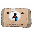 Bear Pattern Electric Warmer Hand Heated Bag - Light Brown