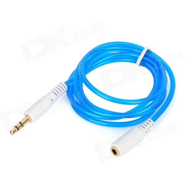 3.5mm macho a hembra cable alargador de audio - Azul + Negro (100cm de longitud)