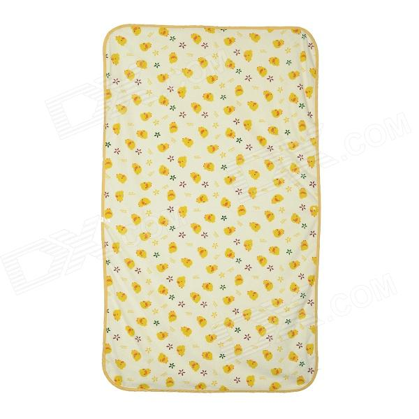 0021 Cute Duck Pattern Pure Cotton Urine Pad / Shield for Baby - Yellow (70 x 120cm)
