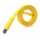 USB Data / Laden Flat Cable w / Mini USB Port für Handy / MP3 / MP4 - Yellow (150cm)