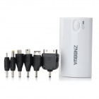 ZNOODA DS-5600 Rechargeable 5600mAh External Battery w/ DC Power Cable + Adapter + LED - White