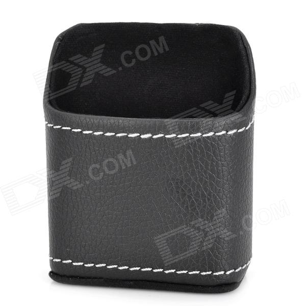 3P P3101 Multifunction PU Hanging Pocket Bag for Car - Black