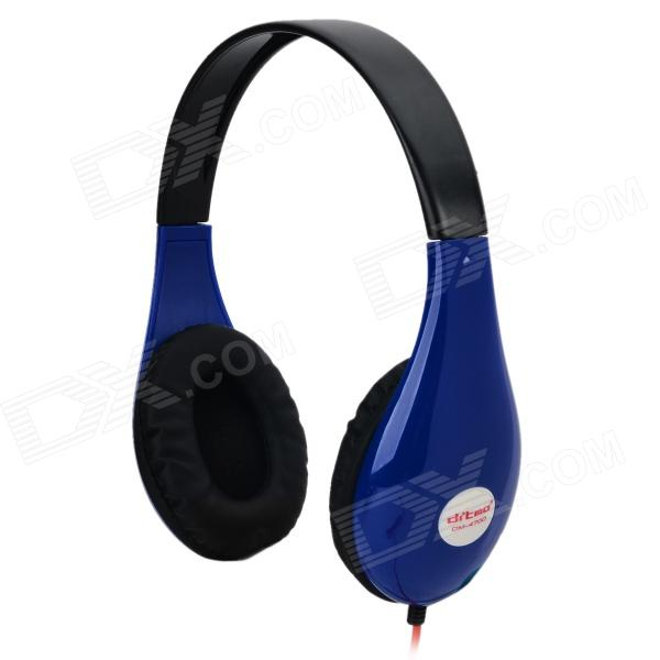 Ditmo DM-4700 Stylish Stereo Headphones - Blue + Black + Red (3.5mm Plug / 120cm) ovleng x13 headphones headset w microphone for computer black red silver 120cm