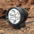 MarsFire M03 3 x Cree XM-L T6 2300lm 4-Mode White Bike Light - Black (4 x 18650)