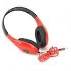 Ditmo DM-4700 Stereo Headset Headphones - Red + Black (3.5mm Plug / 120cm-Cable)