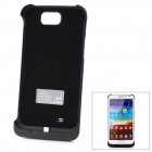Rechargeable 4000mAh External Battery w/ Stand for Samsung N7100 - Black