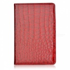 Alligator Muster Protective 360 ​​Grad Drehung PU Ledertasche für iPad Mini - Red