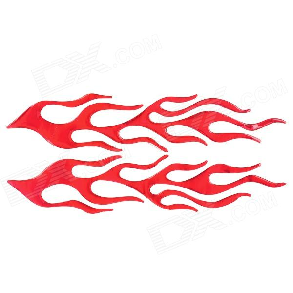3D Hot Flame Pattern Motorcycle Decoration Sticker Decal - Red электроника