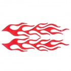 3D Hot Flame Pattern Motorcycle Decoration Sticker Decal - Red