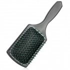 Head Massaging Hair Brush / Comb - Black + Green