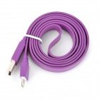 I1303 Flat 8-Pin lightning Male to USB 2.0 Male Data / Charging Cable for iPhone 5 - Purple (102cm)