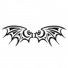 Bat Pattern Universal Motorcycle Reflective Stickers - Black