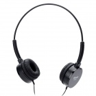 SALAR EM300 Fashion Stereo Headphones - Black (3.5mm Plug / 120cm-Cable)