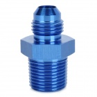 "ZJT-7Z Aluminum Alloy 6 # 3/8 ""NPT Soft Tube Straight Adapter Flare Fitting - Blue"