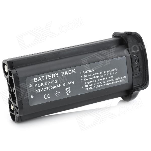 NP-E3 Replacement 2200mAh Ni-MH Battery for Canon NP-E3 EOS-1D D1 - Black