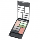 B Style Cosmetic Makeup Powder 6-Eyeshadow + 1-Eyebrush + 2-Blusher Palette Set