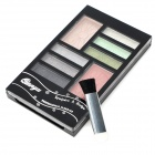 B Style Powder Makeup Cosmetic 6 de sombra de ojos + 1-Eyebrush + 2-paleta de colores Set