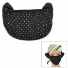 2-In-1 Polka Dot Pattern Warm Keep Cotton Mouth Ear Mask Cover - Black / Grey / Coffee