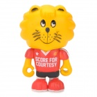 Project Singa S014 Desk Decoration Cute Sport Lion Figure Toy - Red + Black + Yellow