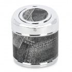 YHG002 Stainless Steel Ashtray w/ Flip Cap - Black + Grey + Silver