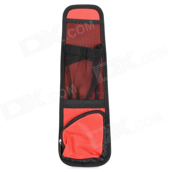 P2201 Car Seat Chair Side Multi Pockets Storage Bag - Black + Red