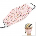 Cute Cotton Double-Side Cold-Proof Dustproof Mount Mask for Women - Pink