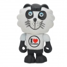Project Singa S017 Desk Decoration Cute Panda Lion Figure Toy - Black + White
