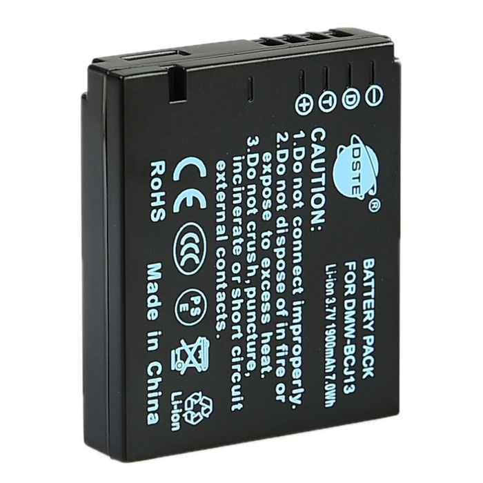 DSTE BCJ13 BCJ13E Replacement  Battery for Panasonic DMC-LX5 LX6 LX7 LX5GK LX6GK LX7GK replacement vbn260 7 4v 2500mah battery pack for panasonic hdc sd800gk tm900 hs900 sd900