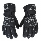 PS007 Star Pattern Waterproof Anti-Slip Full-Finger Gloves for Children - Black (Pair / Free Size)