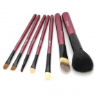 TUBE Professionelle 7-in-1 Cosmetic Make-up Pinsel Set w / Pouch - Black + White + Dark Wine Red
