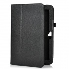 Lichee Pattern Protective PU Leather Flip-Open Case for Google Nexus 10 - Black