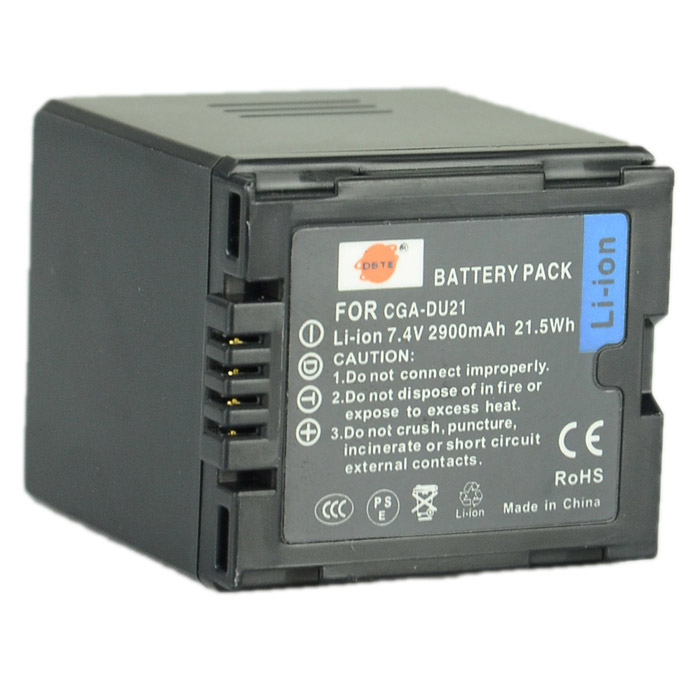 DSTE DU21 Replacement 7.4V 2900mAh Battery for Hitachi / Panasonic - Black replacement dmw bcf10e s009 3 7v 940mah battery for panasonic fs6 fs7 fs15 fs25 ft1