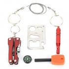 G002 Compact Portable Outdoor Multifunction Emergency Kit Tools - White (6 PCS)