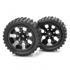 1:10 Scale Replacement Rubber Tires for R/C Off-Road Car / Truck - Black (4 PCS)