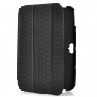 Check Patterns Protective Folding PU Leather + ABS Back Cover Case for Google Nexus 10 - Black